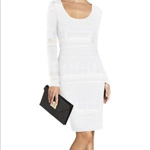 BCBGMaxazria white lace dress S